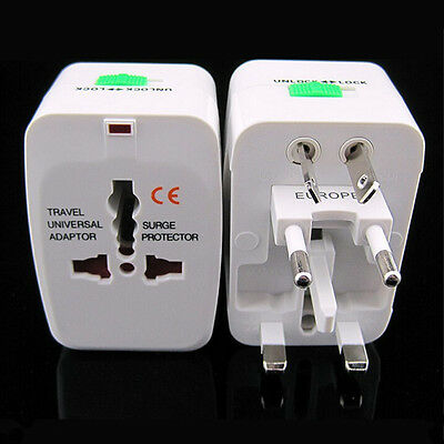 Universal Power Plug Viajes Adaptador Convertidor Enchufe EU AU UK US HOT SALE!