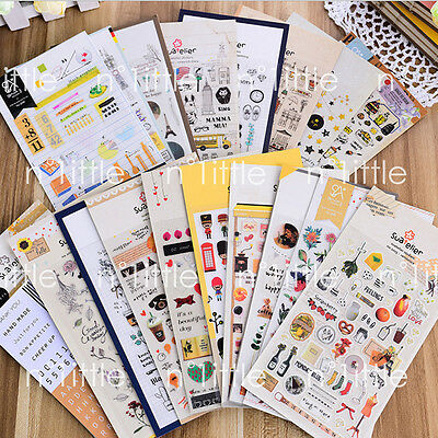 34Styles Sonia Suatelier Diary Deco Stickers Decoration Labels Scrapbook Journal