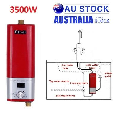 Portable Electric Water Heater Home Bathroom Kitchen Sink Instant Hot System AU