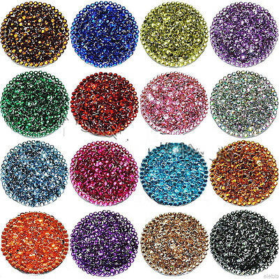 Wholesale 1000Pcs Facets Resin Rhinestone Gems Flat Back Crystal beads 3mm DIY
