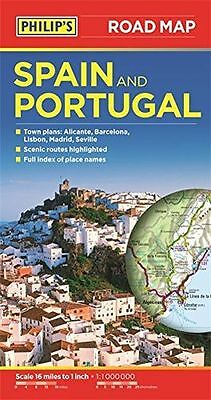 *NEW* - Philip's Spain and Portugal Road Map (Paperback) ISBN1849073600