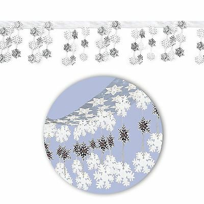 Frozen Snowflake Christmas Wonderland Hanging Dangling Foil Ceiling Decoration
