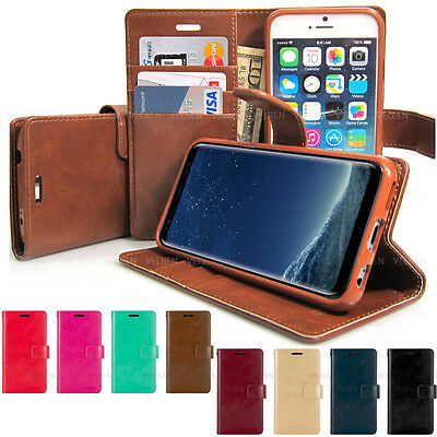 Goospery Diary Flip Book Leather Wallet Case Cover iPhone XS/Galaxy S10/Note9/LG