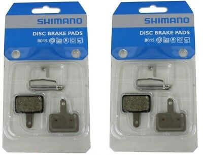 Retail Package 2 x Genuine Shimano MTB Disc Pads B01S Resin M525 M495 M475 M465