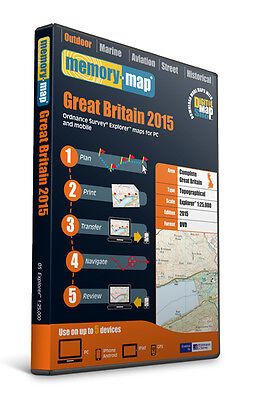 Memory-Map 2015 SD Great Britain OS Explorer 1:25,000 Maps [ESEGB15]