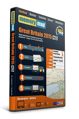 Memory-Map 2015 HD Great Britain OS Explorer 1:25,000 Maps [EHDGB15]