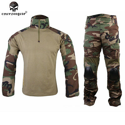 EMERSON Gen2 Combat Uniform Tactical Cype Style Airsoft Duty BDU Woodland 6974