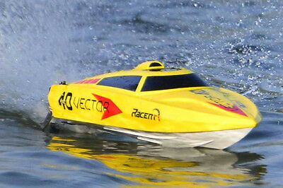RC RTR 2.4G 2CH Brushless Vector 40 High Speed Racing Boat Black Color only