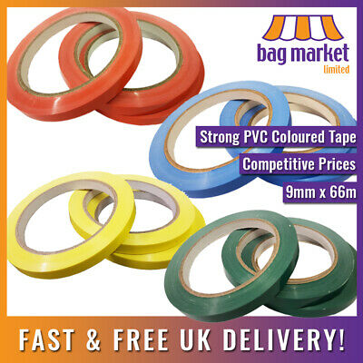 9mm x 66m Strong Vinyl Sealing Tape!! | Butcher/Neck Sealer/Food Bag/Fruit/PVC
