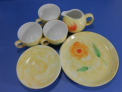 (Lot) Ditmar Urbach Czech Hand Painted Yellow Vintage China