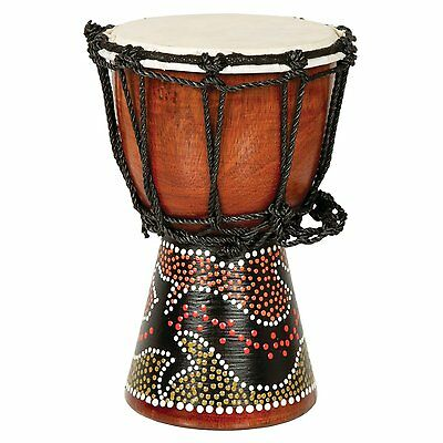 """9"""" African Djembe Drum with Gecko Painted Design"""