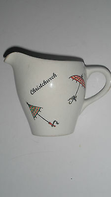 "DEE CEE SOUVENIR ""CHRISTCHURCH"" JUG BY WADE RETRO PARASOL DESIGN c1950's"