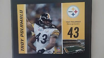 PITTSBURGH STEELERS TROY POLAMALU  PLAQUE  13 x 10 inches Fanatics Authentic