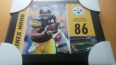 PITTSBURGH STEELERS HINES WARD  PLAQUE 13 x 10 inches Fanatics Authentics