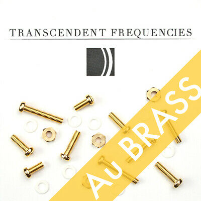 GOLD PLATED BRASS Cartridge Headshell Mounting Screws Hardware Set for turntable