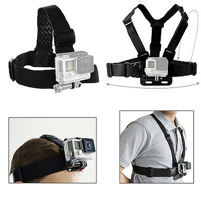 Harness Head + Chest Strap Mount for GoPro Hero 4 3+ 3 2 1 Chesty Accessories