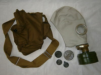 Soviet Gas Mask GP-5 NBC Protection Filter Case Russian Military Surplus USSR