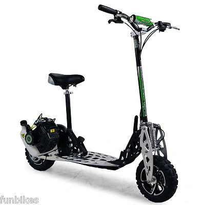 Uber Scoot 2-Speed 71cc Petrol Scooter Big Wheel Off Road Powerboard Go Ped