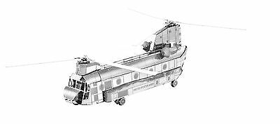 CH-47 Chinook 3D-Metall-Bausatz Silver-Edition Metal Earth 1084