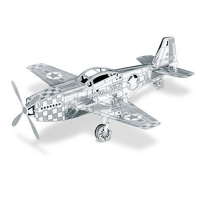 Mustang P-51 3D-Metall-Bausatz Silver-Edition Metal Earth 1003
