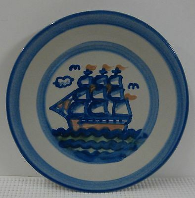 """M. A. Hadley SHIP & WHALE Luncheon Plate (9"""") SHIP DESIGN Multiple Available"""