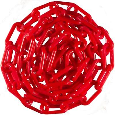 """Plastic Chain 6mm 2 """" X 50 Ft - ( Red ) for Events, DIY, or Decorative"""