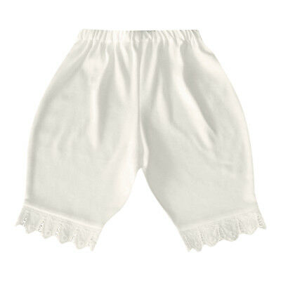 Victorian Baby Bloomer Organic Cotton White Lace Diaper Cover Short Petti Pant