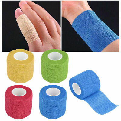 Kinesiology Therapeutic Bandage Wraps Elastic Adhesive First Aid Tape Sport 4.5M