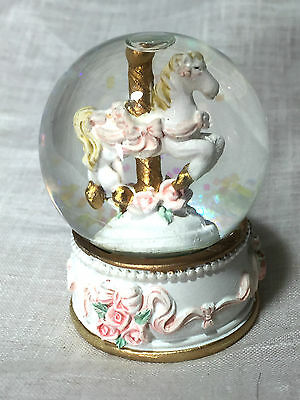 Rose Delight - Carousel Snow Globe (C)