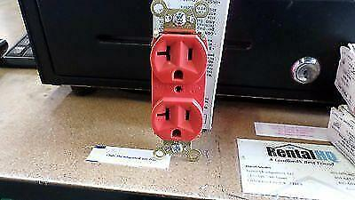 Pass&Seymour Ps5362-Red Duplex Receptacle 20A 125V