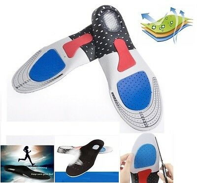 Men Women Gel Orthotic Sport Running Insole Insert Shoe Pad Arch Support Cushion