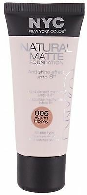 NYC Natural Matte Foundation - Choose your shade - 30ml