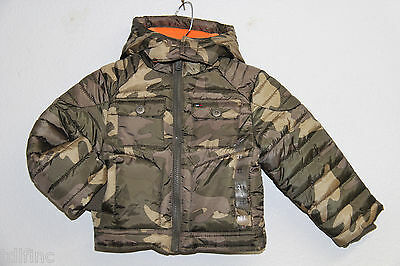 *NEW Tommy Hilfiger Camo Fleece Lined Hooded Puffer Jacket size 2T Green $89.50