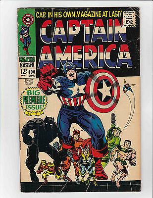 Captain America #100 (Marvel) VG - VG+! HIGH RES SCANS! 1st Solo Series Issue!