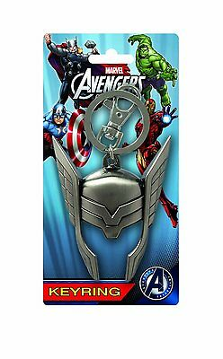 Marvel Thor Avengers Thor Helmet Pewter Key Chain KEYRING Official Merchandise