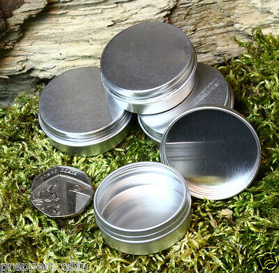 ROUND SURVIVAL KIT TIN Small Empty Pot Plain Metal Storage Bit Box Mini Lip Balm