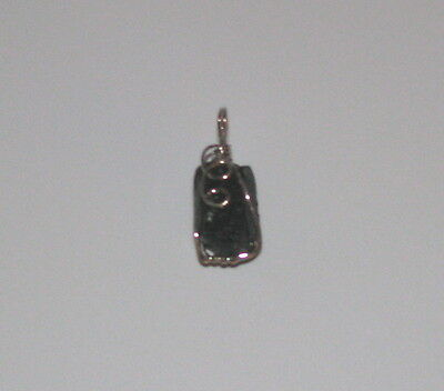Black Tourmaline Wire Wrapped Untumbled Crystal Pendant Wicca Pagan