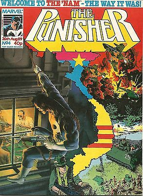 THE PUNISHER # 4 / 26th AUG 1989 / MARVEL COMICS UK / N/M w/ THE NAM