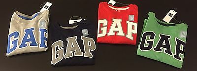 Nwt Gap Logo Shirt Long Sleeve Boys Baby From 6 Months To 5 Years Choose Color