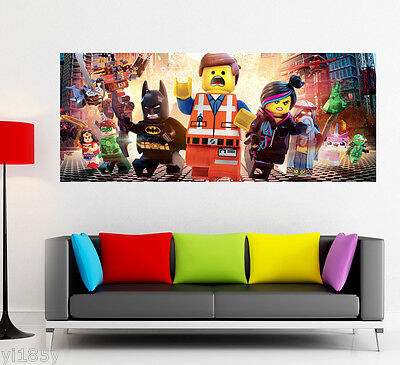 Lego Movie Poster Star Wars Batman Hulk Large Banner Wall Art Deco Print