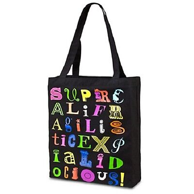 """Disney MARY POPPINS TOTE SUPERCALIFRAGILISTICEXPIALIDOCIOUS Broadway Musical 14"""""""