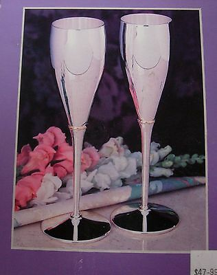 Sheridan Silverplated Fluted Champagne Goblets