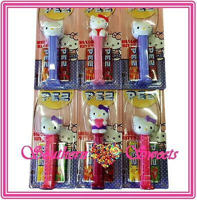 Pez Hello Kitty Lollies Limited Edition Collectors  Items 6 Pack