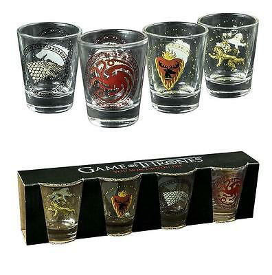 Game of Thrones House Sigil Shot Glass Set of 4