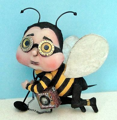 "*new* Cloth Folk Art Doll (E-Pattern) ""honey Detector"" By Susan Barmore"