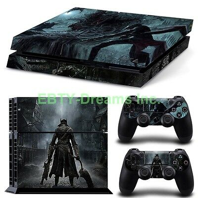 Bloodborne Hunters Video Game Skin Sticker Decal Protector for Playstation PS4