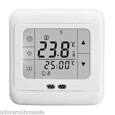 New UK Programmable Digital Electronic Room Heating Thermostat touch screen STAT