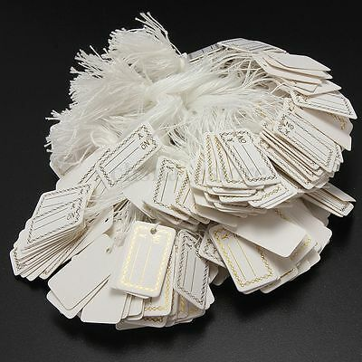 100pcs 26X15mm Price Tags String Jewelry Crafts Pricing Label Chain Strung Swing