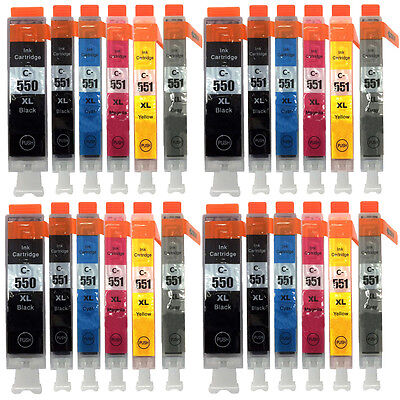 24 Unink Brand Ink Cartridges for Canon Pixma iP8750 MG6350 MG7150 MG7550