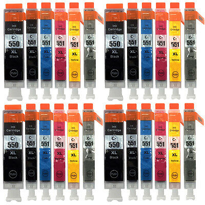 24 XL Ink Cartridges for Canon Pixma iP8750 MG6350 MG7150 MG7550